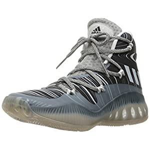 adidas Originals Men's Shoes | Crazy Explosive Basketball, MGH Solid Grey/White/Black 1, (13 M US)