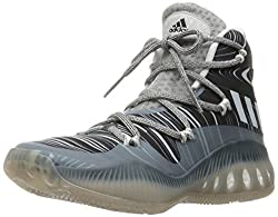 adidas Performance Men's Shoes | Crazy Explosive Basketball, Mgh Solid Grey/White/Black 1, (7.5 M US)
