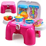Toyshine Sunshine Carry Along Kitchen Play Set With Sitting Stool And Music Effect - Multi Color