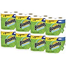 Bounty Quick-Size Paper Towels, White, Family Rolls (143 Sheets per Roll), 16 Rolls