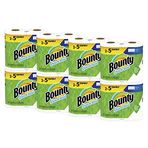 Bounty Quick-Size Paper Towels, White, Family Rolls, 16 Count (Equal to 40 Regular Rolls) (Best Way To Clean Countertops)