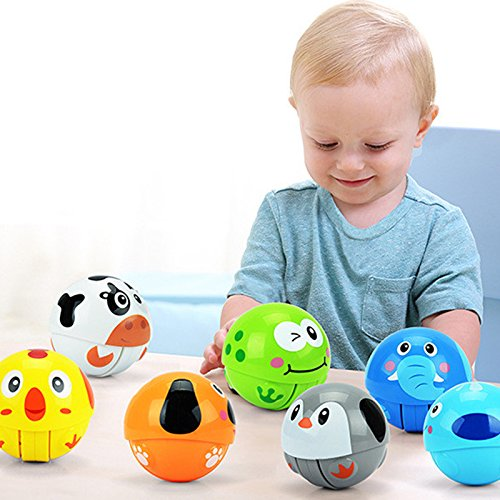 Baby Toy Rattle Infant Teether Puzzle Educational(10 Pieces) - 3