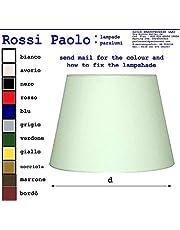 Idea illuminazione: paralume paraluce coprilampada in tessuto accoppiato a lamina di PVC, per lampade piantane da terra applique da parete lumetto da comodino lampadari e sospensioni; colore bianco o (Modello Tronco Cono, 40.00)