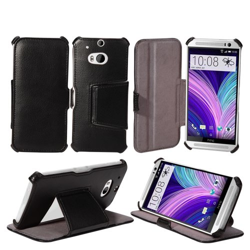 AceAbove The all new HTC One M8 Case - Protective Stand Case for HTC One M8 [Black]