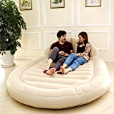 Air Mattress Inflatable bed column backrest double increase outdoor portable-A