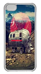 Lmf DIY phone caseiphone 6 4.7 inch Case and Cover - Rhino Polycarbonate Hard Case Back Cover for iphone 6 4.7 inch TransparentLmf DIY phone case