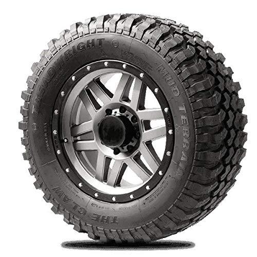 TreadWright CLAW M/T Tire - Remold USA - LT275/70R18E Premier Tread Wear (40,000 miles) (275 70 18 All Terrain Tires)