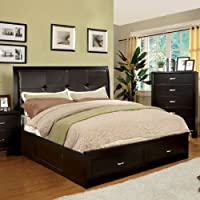 247SHOPATHOME Idf-7066EX-EK Platform-Beds, King, Espresso