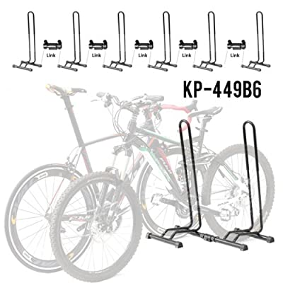 Adjustable 1-6 Bike Floor Parking Rack Storage Stands Bicycle
