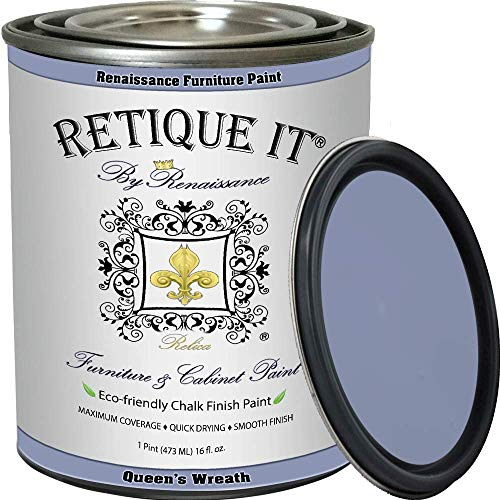 Retique It Chalk Finish Renaissance furniture paint, 16 oz (Pint), Queen's Wreath 34