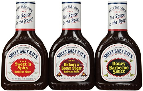 Sweet Baby Ray's Variety 3 Pack-Honey Barbecue Sauce-Hickory