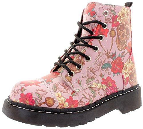 T.U.K. - Botas de Material Sintético para mujer rosa - multicolor