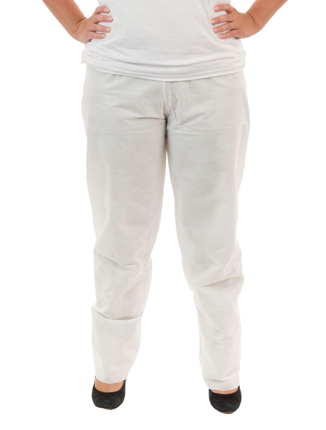 International Enviroguard SMS Pants (White) with Elastic Waist | General Cleanup & Protection (3XL, Case of 30)