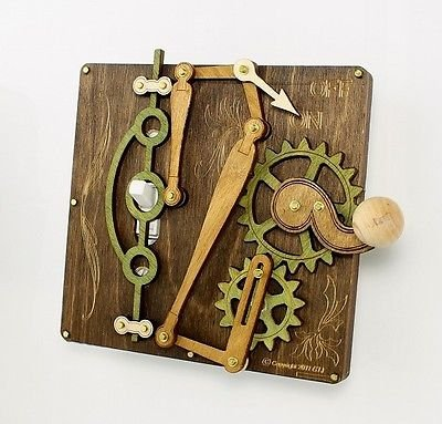 Green Tree Jewelry Single Lever Brown Wood Light Switch Plate