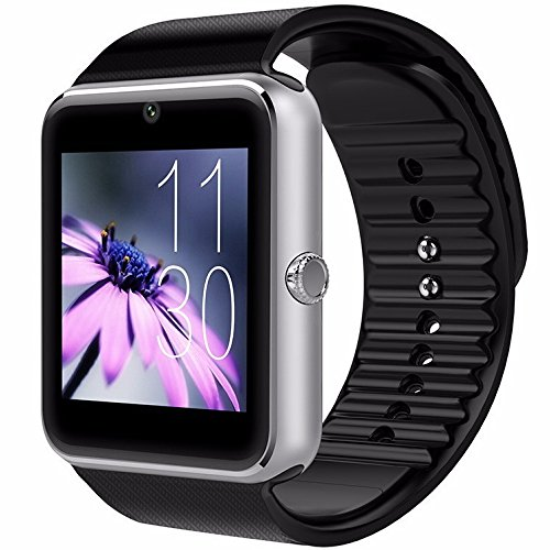 CNPGD [U.S. Warranty] All-in-1 Smartwatch and Watch Cell Phone Silver for iPhone, Android, Samsung, Galaxy Note, Nexus, HTC, Sony