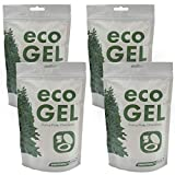 Eco Gel Port-A-Potty and Emergency Toilet Chemicals, Eco-Friendly Liquid Waste Gelling and Deodorizing Powder. 4 Pack