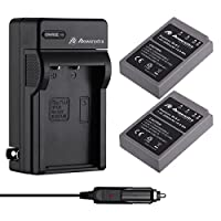 Powerextra 2 Pack Battery and Charger for Olympus BLS-5, BLS-50, PS-BLS5 and Olympus OM-D E-M10, PEN E-PL2, E-PL5, E-PL6, E-PL7, E-PM2, Stylus 1