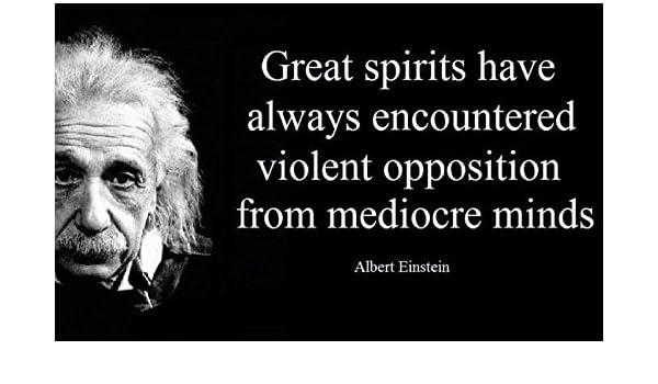 Amazon 20 X 30 Xxxl Poster Albert Einstein Quote Great Spirits