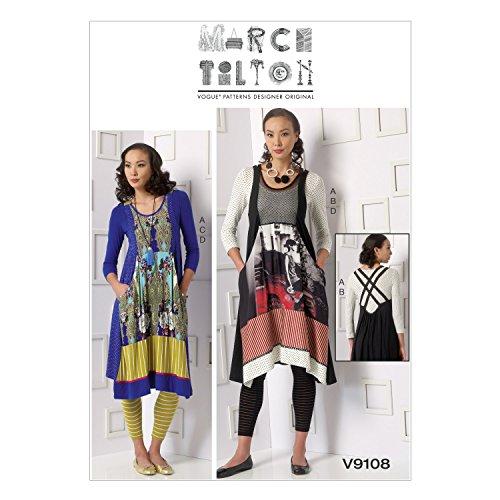Vogue Patterns V9108 Misses' Top/Dress & Leggings, Size ZZ (Vogue Patterns Tops)