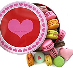 Leilalove Macarons -14 Macarons with up to ten flavors - Love box may vary