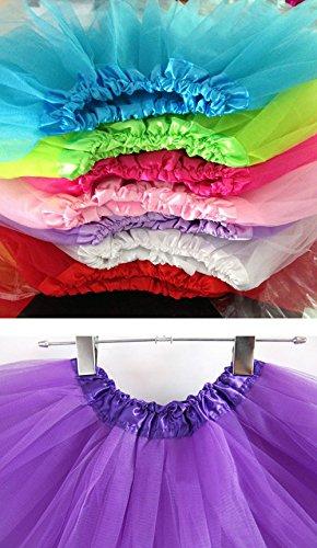 varies et Tailles Hellblau1 Mini enfants MIOIM pour filles de danse Jupon pour Tutu jupe adultes Cwz74qX6