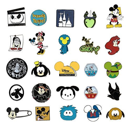 Disney Trading Pins-Lot of 25-No Duplicates-LE-HM-Rack-Cast by Ale'x