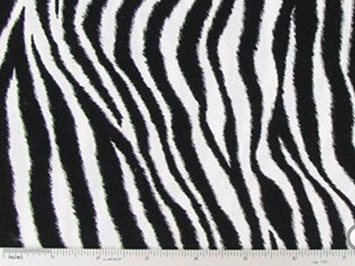 (Zebra Stripes Cotton Quilting Fabric by the Half Yard 44