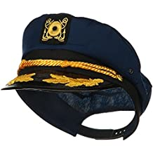Navy Blue Yacht Skipper Hat Ship Captain Cap Costume Sailor Boat Ship Captains