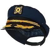 jacobson hat company - Jacobson Hat Company Yacht Skipper Hat Ship Captain Cap Costume Sailor Boat Ship Captains,Navy,Adjustable