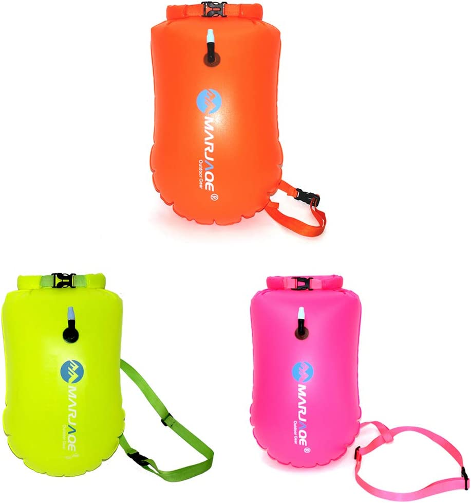 Doolland Inflatable Swimming Bag Inflatable Swimming Bag Outdoor Waterproof PVC Storage Swimming Bag Ultralight Swim Buoy and Safety Float Lifebuoy Buoy Prevent Drowning