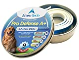 Dog Flea Treatment Collar - [New 2018 Version] Flea and Tick Collar 9-MONTHS Pro Deffence A+ for Dogs - Best Natural Pet Protection Kills, Repels, & Prevents Fleas, Pests - Waterproof (FOR LARGE DOG - 9 Months)