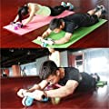 Ab Wheel, ADiPROD Pro style Folding Abdominal Roller Muscle Exercise Fitness Gym With Mat