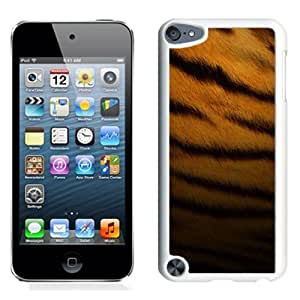 Beautiful Unique Designed iPod Touch 5 Phone Case With Tiger Skin Pattern_White Phone Case