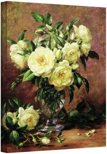 Art Wall williams-b-008-14×18-w Albert Williams White Roses, A Gift from The Heart Gallery-Wrapped Canvas Artwork, 14 by 18-Inch