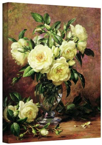 Art Wall williams-b-008-24×32-w Albert Williams White Roses, A Gift from The Heart Gallery-Wrapped Canvas Artwork, 24 by 32-Inch