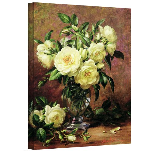 Art Wall williams-b-008-36x48-w Albert Williams 'White Roses, A Gift from The Heart' Gallery-Wrapped Canvas Artwork, 36 by 48-Inch