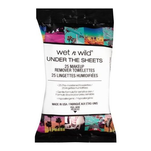 (3 Pack) WET N WILD Under the Sheets Makeup Remover Wipes - 25 Towelettes