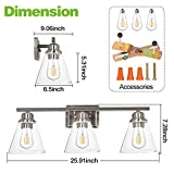3-Light Vanity Light Fixture, 5-Piece All-in-One