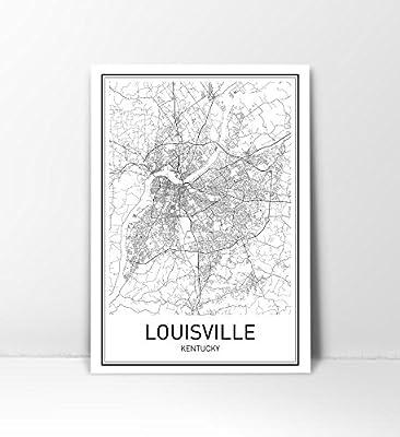 Louisville Poster, Map of Louisville, Louisville Map, City Map Posters, Modern Map Art, City Prints, Kentucky Art, Minimal Print, KY Poster, City Poster, City Map Wall Art, minimalist posters, 8x10