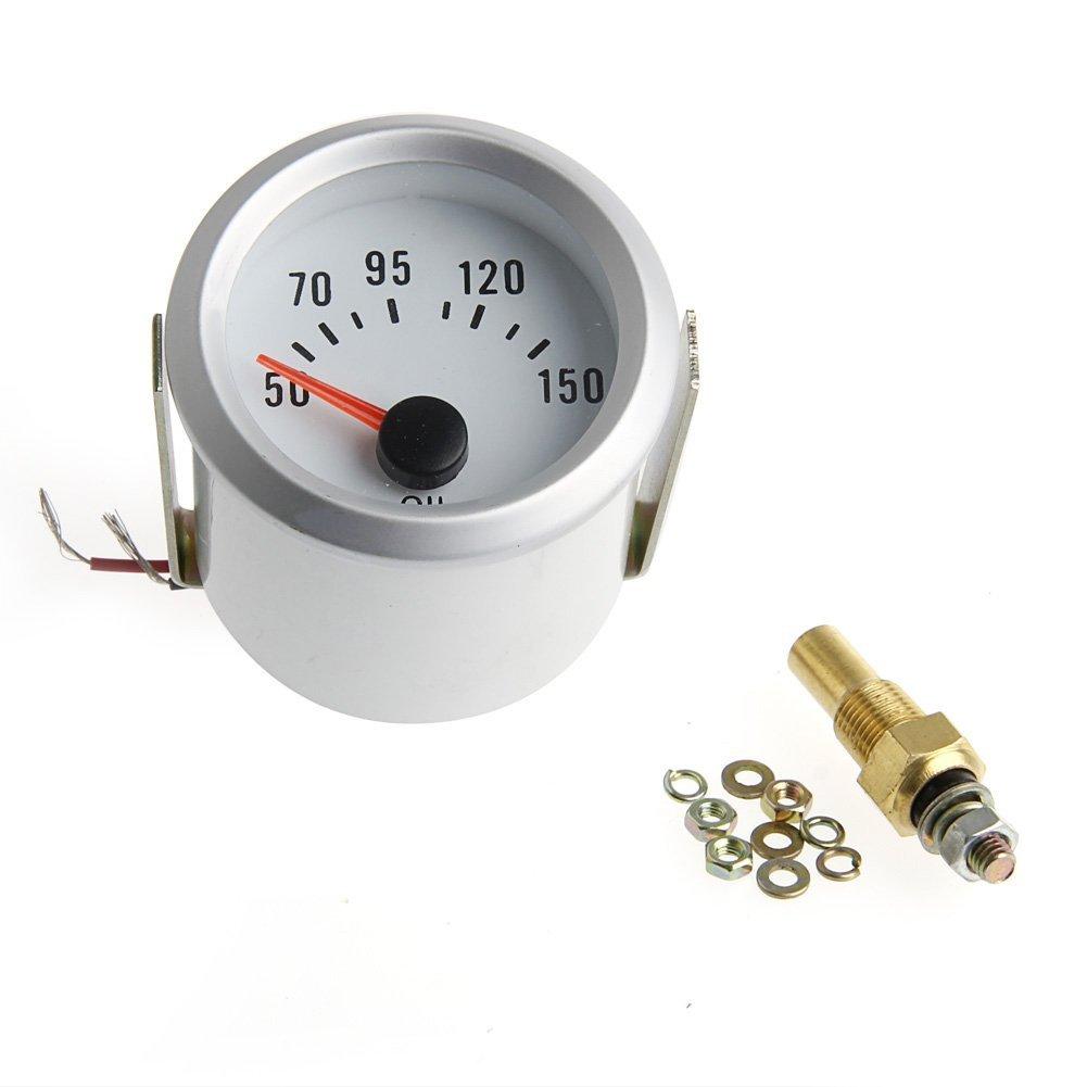 FXCO - Temperatura dell'olio elettrica 2', indicatore di temperatura Celsius, indicatore LED blu 50-150 ° C indicatore LED blu 50-150 °C