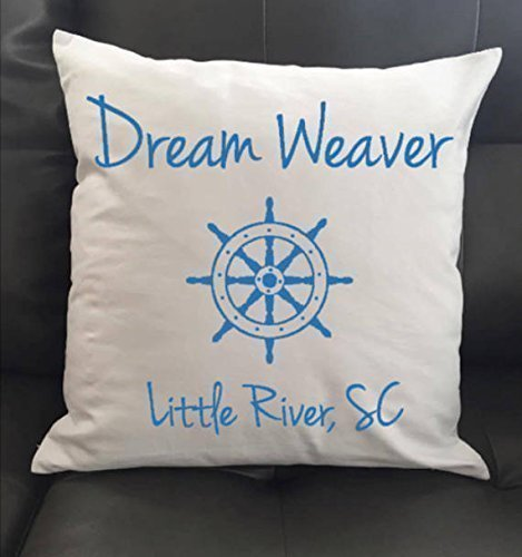 (Personalized Ship Wheel Throw Pillow 16x16)