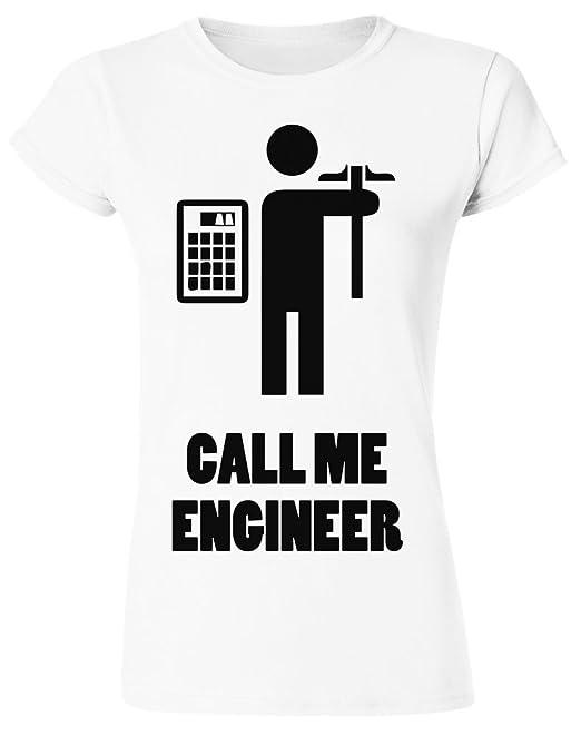 Call Me Engineer Repairing Devices Camiseta para mujer XX-Large: Amazon.es: Ropa y accesorios