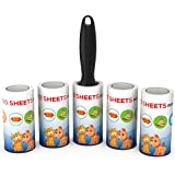 SuperiorMaker Lint Roller Lint Remover and Pet Hair Remover - 5 PACK - 500 Sheets - For Clothes, Furniture, Car and More - Pet Lint Roller Also Great For Picking Up Dust, Dirt and Crumbs