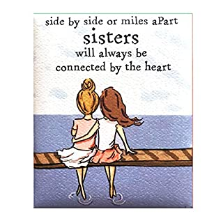 "Blue Mountain Arts Refrigerator Magnet ""Sisters"" 4.0 x 3.25 in. Perfect Sentimental Birthday, Christmas, Mother's Day, or Thinking of You Gift for an Older or Younger Sister, by Heather Stillufsen"