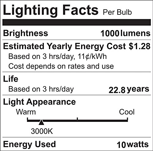Bonlux LED Corn Bulb Medium Screw E26 E27 Base 10w Warm White T10 Tubular LED Light Bulb 75 Watt Incandescent Bulb Equivalent (Pack of 2) by Bonlux