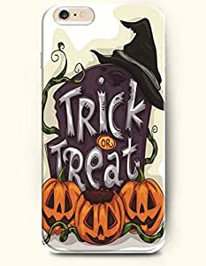 SevenArc Apple iPhone 6 Plus case 5.5 inches - All Saints' Eve Trick Or Treat Pumpkin Lantern And Witch'S Hat