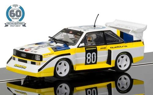 Scalextric C3828A 60th Anniversary Collection - 1980s, Audi Sport quattro S1 E2 Limited (Quattro Collection)