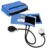 Prestige Medical Premium Aneroid Sphygmomanometer with Carry Case (Ceil Blue)