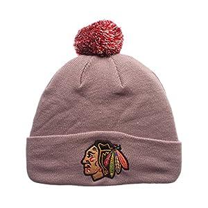 Zephyr Cuff Beanie Hat with POM POM - NHL Cuffed Winter Knit Toque Cap