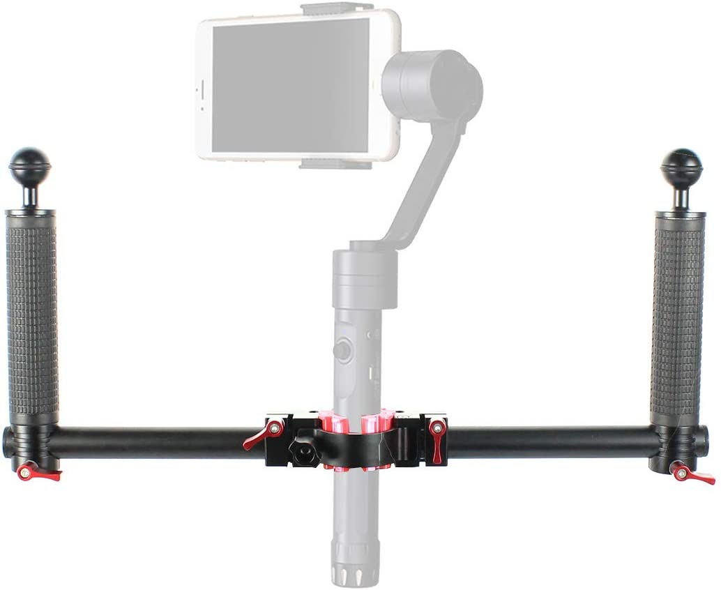 with 30~35mm 3D Part XT-XINTE Dual Grip Handheld Gimbal Stabilizer Detachable Pocket Photography Accessories Bracket Kit Compatible for Crane1,2PRO
